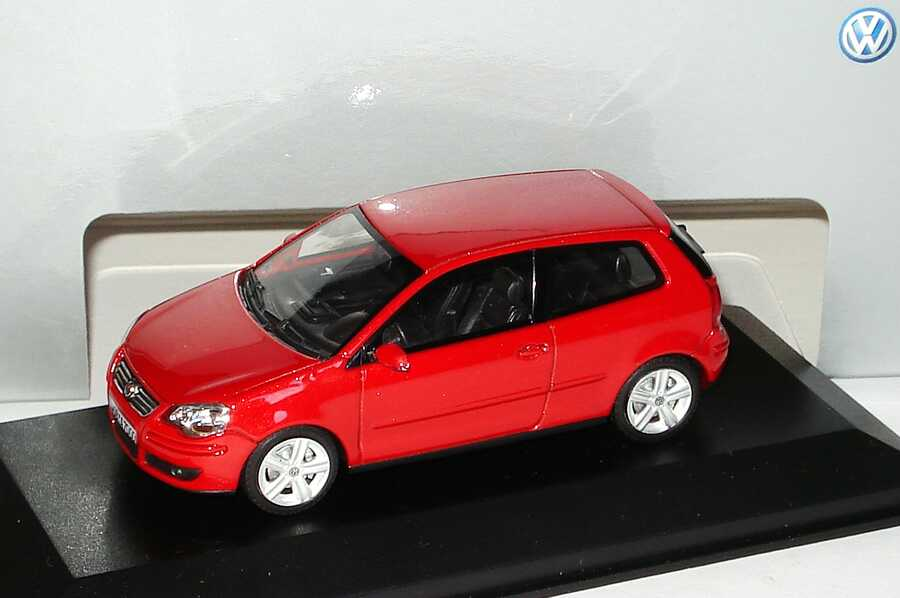 1 43 vw polo iv facelift 2005 9n3 2t rig sunsetred rot red volkswagen dealer. Black Bedroom Furniture Sets. Home Design Ideas