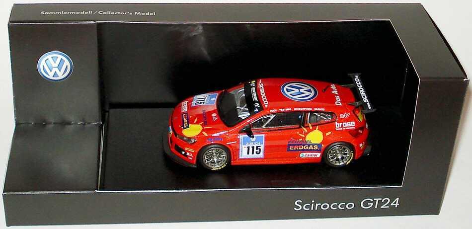 1:43 VW Scirocco GT24-CNG 24 Stundenrennen Nürburgring 2009 Nr.115, Vanina Ickx / Terting / Niedzwiedz / Klenke (VW)