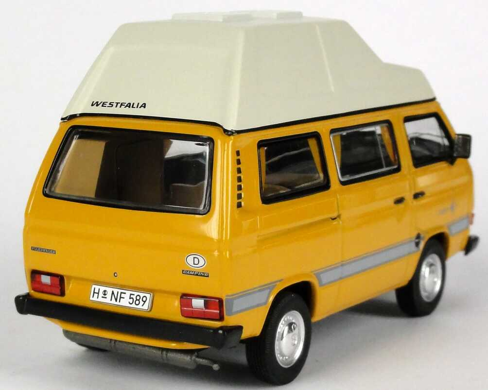 1 43 vw t3 bulli campingbus 1979 bambusgelb yellow volkswagen dealer edition ebay. Black Bedroom Furniture Sets. Home Design Ideas