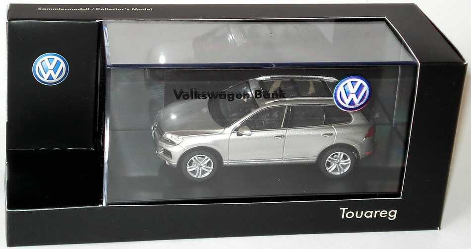 "1:43 VW Touareg II 2010 tungsten-silvermet. ""Volkswagen Bank"" (VW)"
