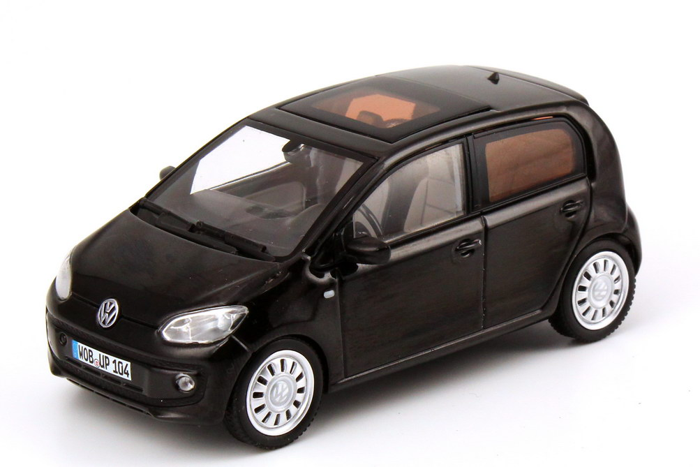 1 43 vw up 4 t rer 4 door black pearl schwarz dealer edition oem ebay. Black Bedroom Furniture Sets. Home Design Ideas