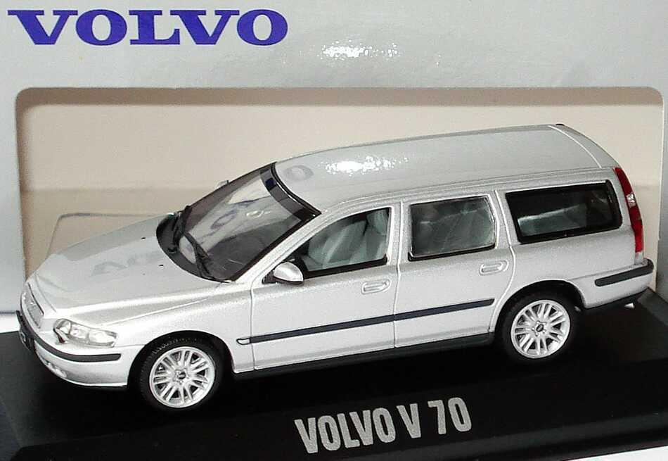 1 43 Volvo V70 Kombi Silber Met Werbemodell Minichamps