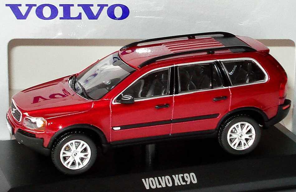 1 43 Volvo Xc90 Rubinrot Met Werbemodell Minichamps Vfl1232