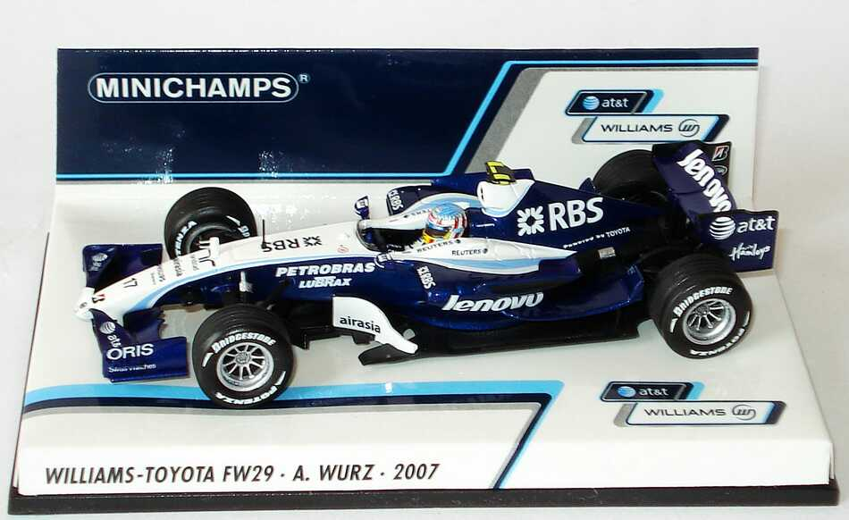 1 43 williams toyota fw29 formel 1 2007 rbs lenovo. Black Bedroom Furniture Sets. Home Design Ideas