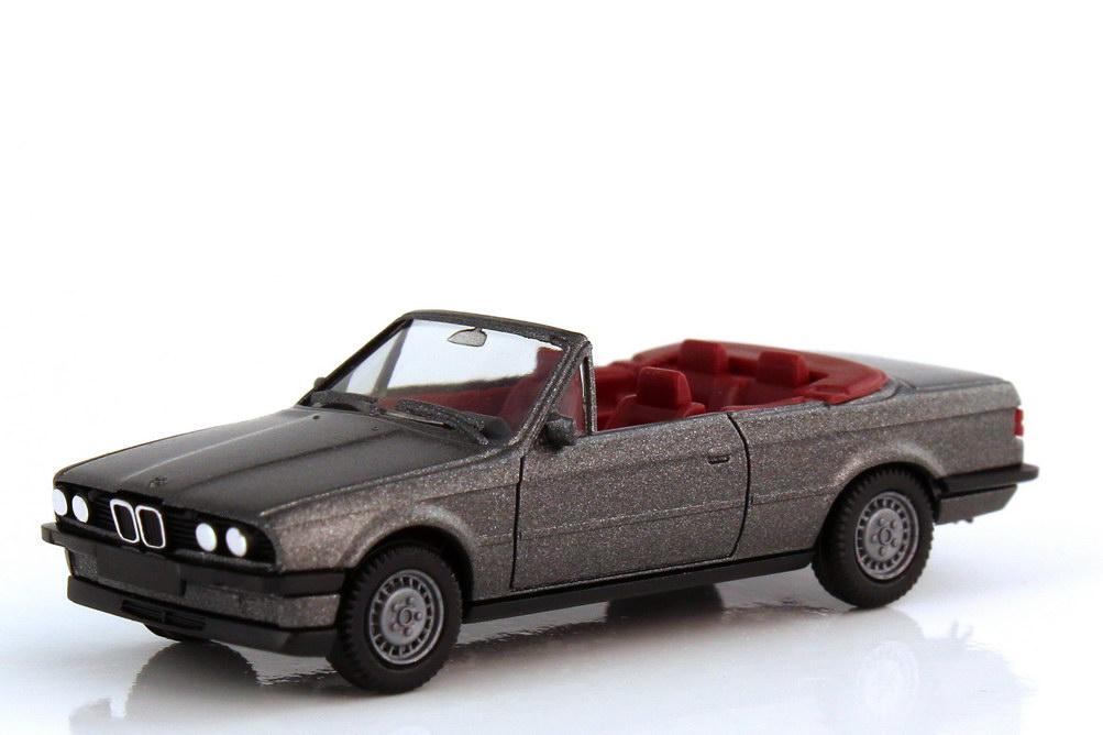 1:87 BMW 3er 325i Cabrio (E30) delphingrau-met., IA rot