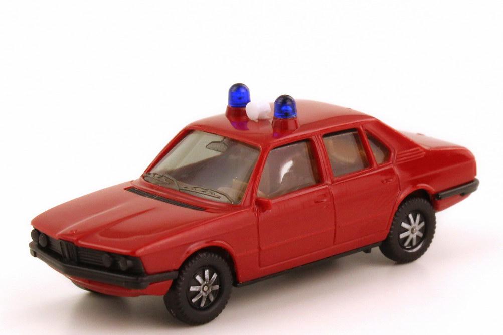1:87 BMW 5er (E12) 528i Feuerwehr rot (Lautsprecher weiß, ohne Schrift) (oV)