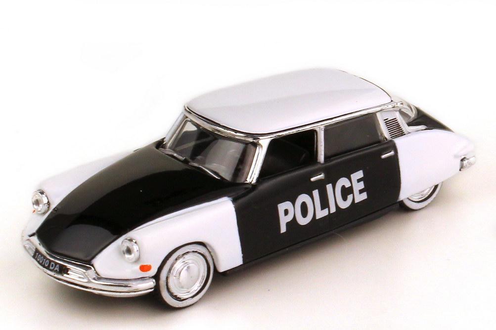 Foto 1:87 Citroen DS19 1958 Police schwarz weiß - Norev