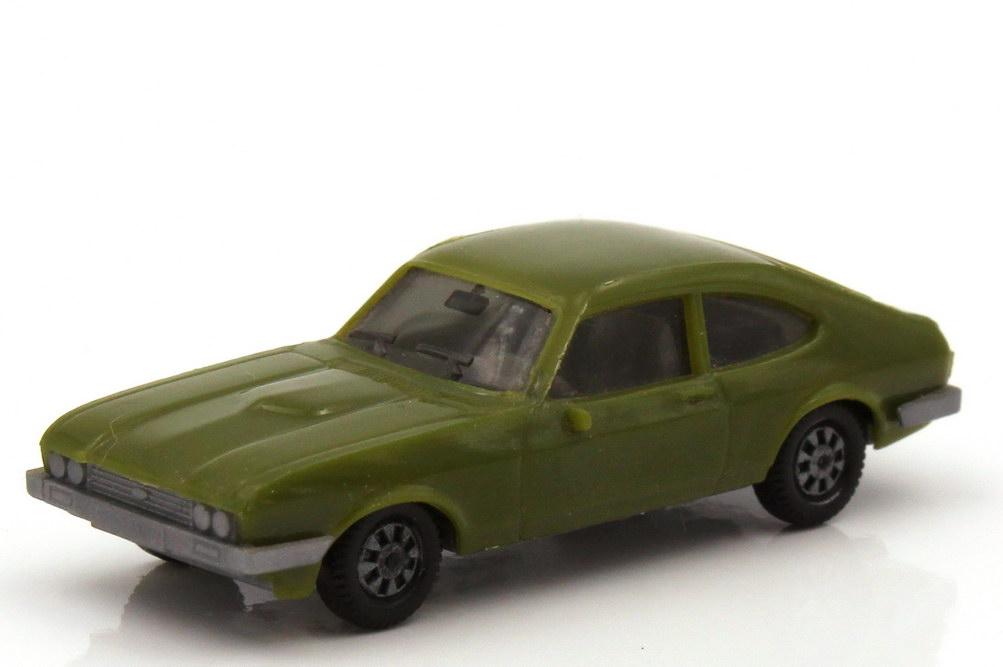 1:87 Ford Capri Mk III 3.0 Ghia olivgrün, Bodenplatte grau (oV)