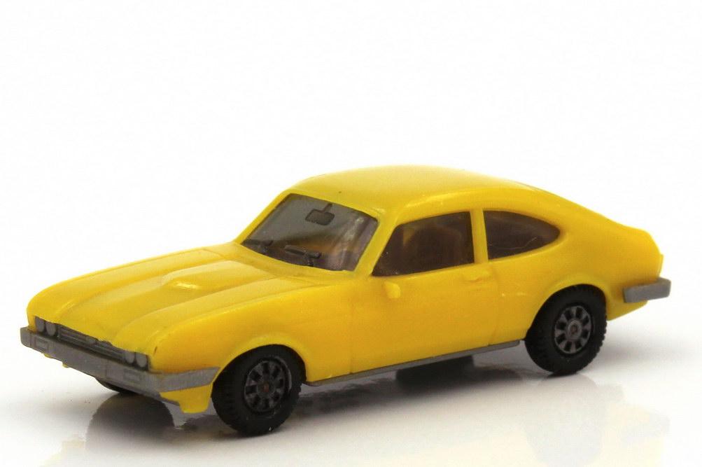 1:87 Ford Capri Mk III 3.0 Ghia gelb, Bodenplatte grau (oV)