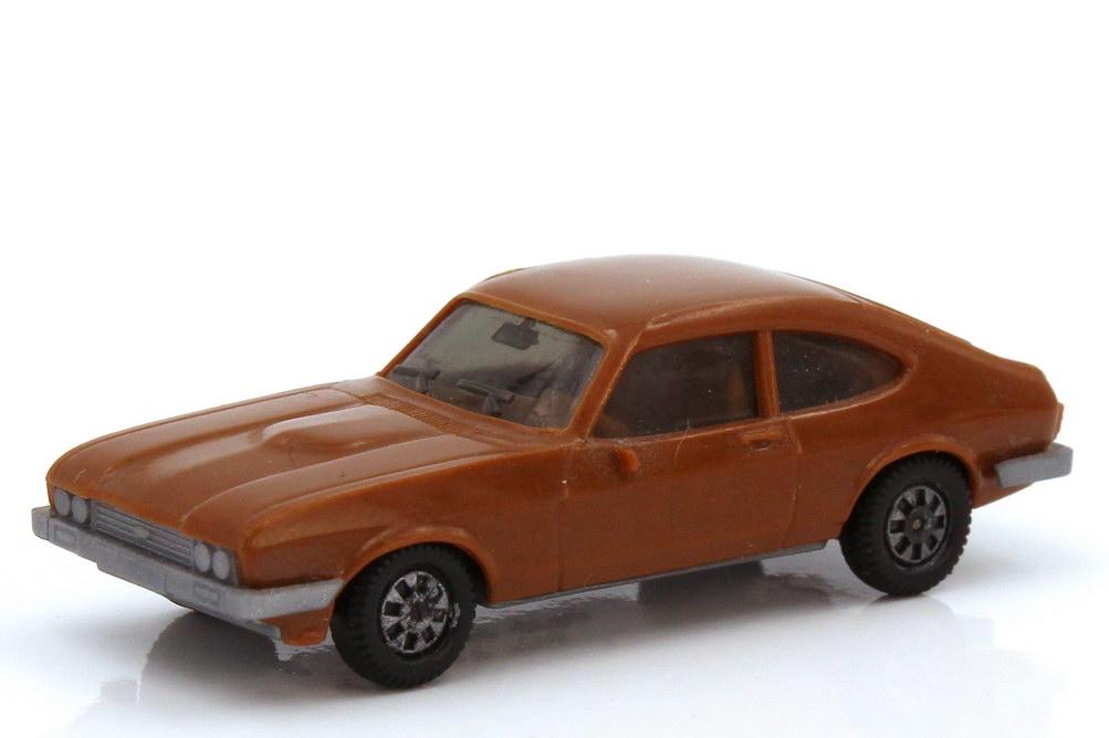 1:87 Ford Capri Mk III 3.0 Ghia braun, Bodenplatte grau (oV)