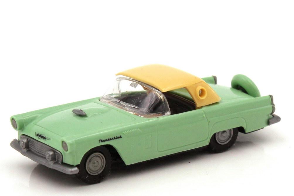 1:87 Ford Thunderbird ´56 Cabrio mintgrün mit Hardtop beige