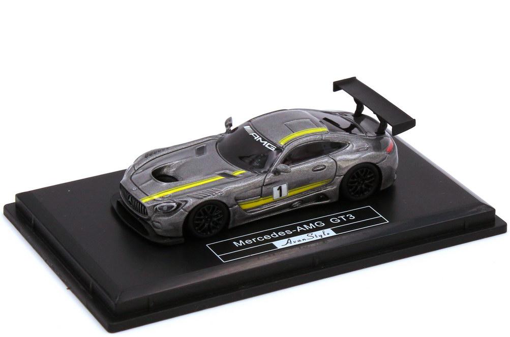 1:87 Mercedes-AMG GT3 (C190) grau-met. Nr.1 Präsentations-Design