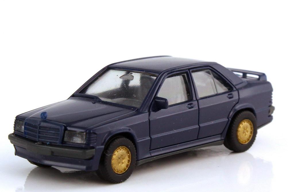 1:87 Mercedes-Benz 190E 2.3-16 (W201) dunkelblau, Felgen gold (oV)
