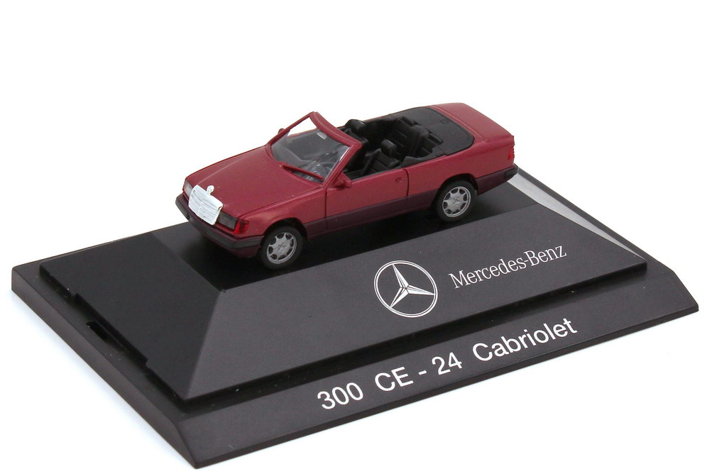 1:87 Mercedes-Benz 300CE-24 Cabriolet (A124) almadinrot-met. (MB)