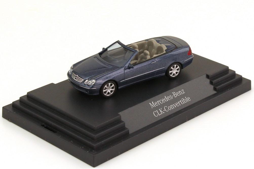 Foto 1:87 Mercedes-Benz CLK Cabrio A209 tansanitblau-met. - Werbemodell - Busch B66961347
