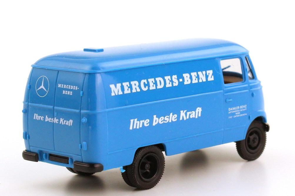mercedes benz l319 kasten blau mb ihre beste kraft werbemodell brekina bild 3. Black Bedroom Furniture Sets. Home Design Ideas