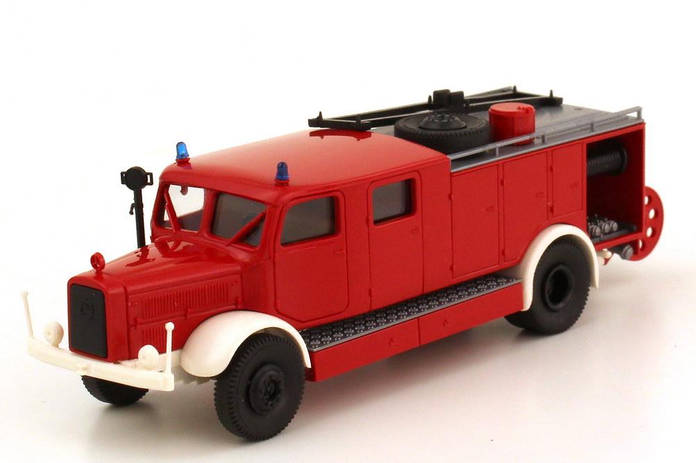 1:87 Mercedes-Benz L4500S LF25 Löschgruppenfahrzeug Feuerwehr rot/weiß