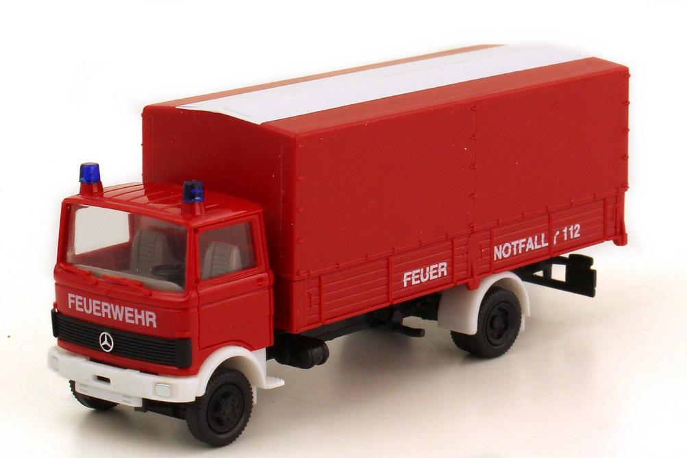 1:87 Mercedes-Benz LP 813 Pritsche Plane Feuerwehr rot/weiß