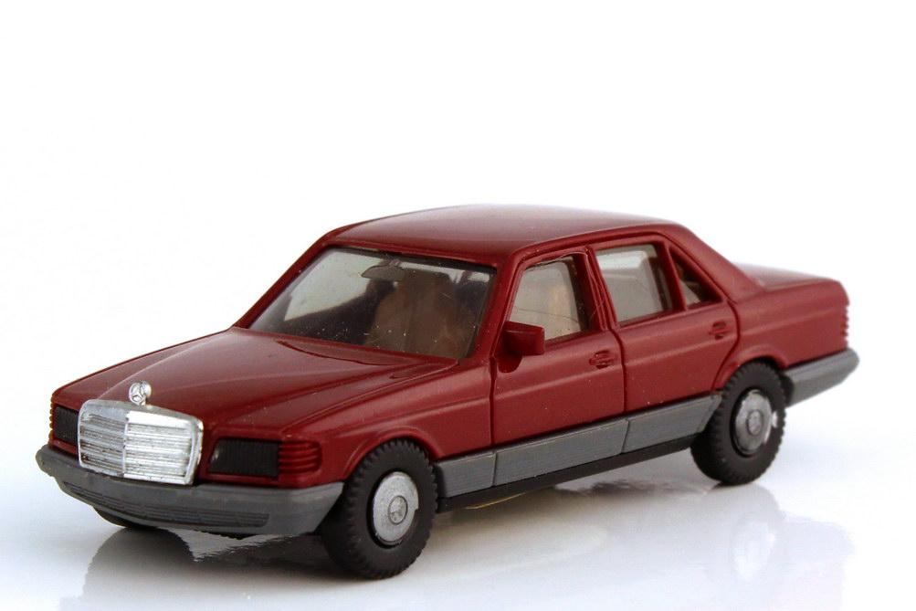 1:87 Mercedes-Benz S-Klasse 500SE (W126) weinrot (Räder einteilig) (oV)