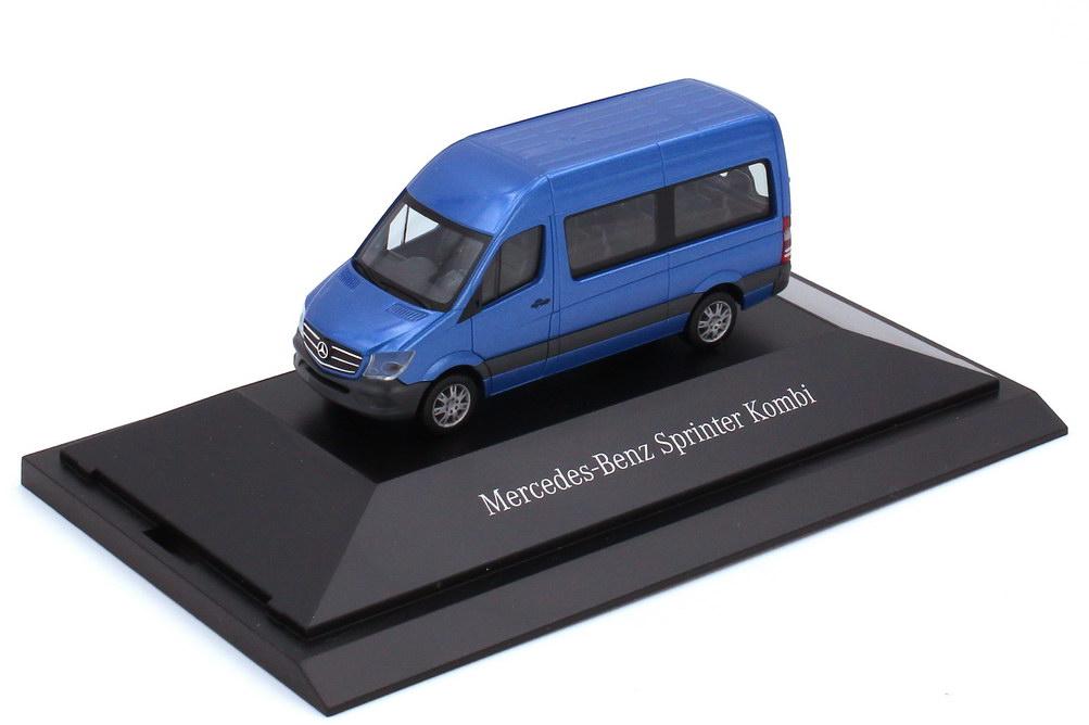 1:87 Mercedes-Benz Sprinter 2013 (NCV3 W906 MOPF) Kombi Hochdach südsee-blau-met. (MB)