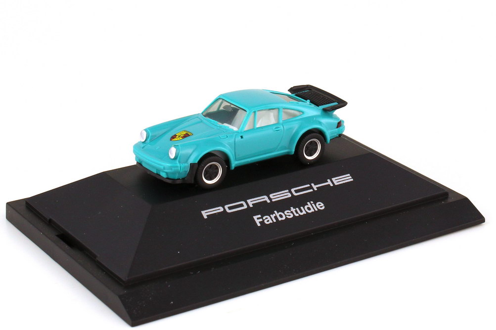 1:87 Porsche 911 turbo (Typ 930) türkis Farbstudie, roter Umkarton