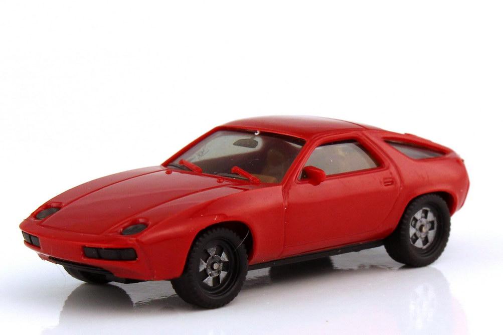 1:87 Porsche 928 rot (Räder einteilig, IA beige) (oV)