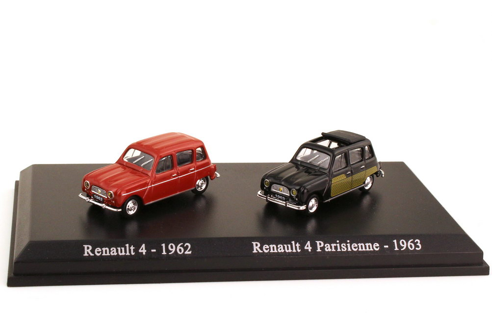 1:87 Set-Packung Renault 4 (1962) braun + Renault 4 (1963) Parisienne (Fahrschule) schwarz