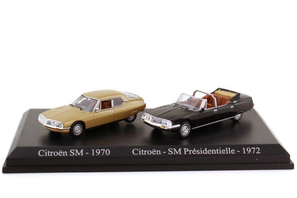 Foto 1:87 Setpackung Citroen SM beige-met. + Presidentielle schwarz-met. - Universal Hobbies Atlas-Edition