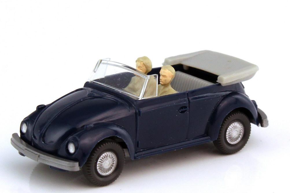 1:87 VW 1303 Käfer Cabrio dunkelblau (mit Figuren) (oV)