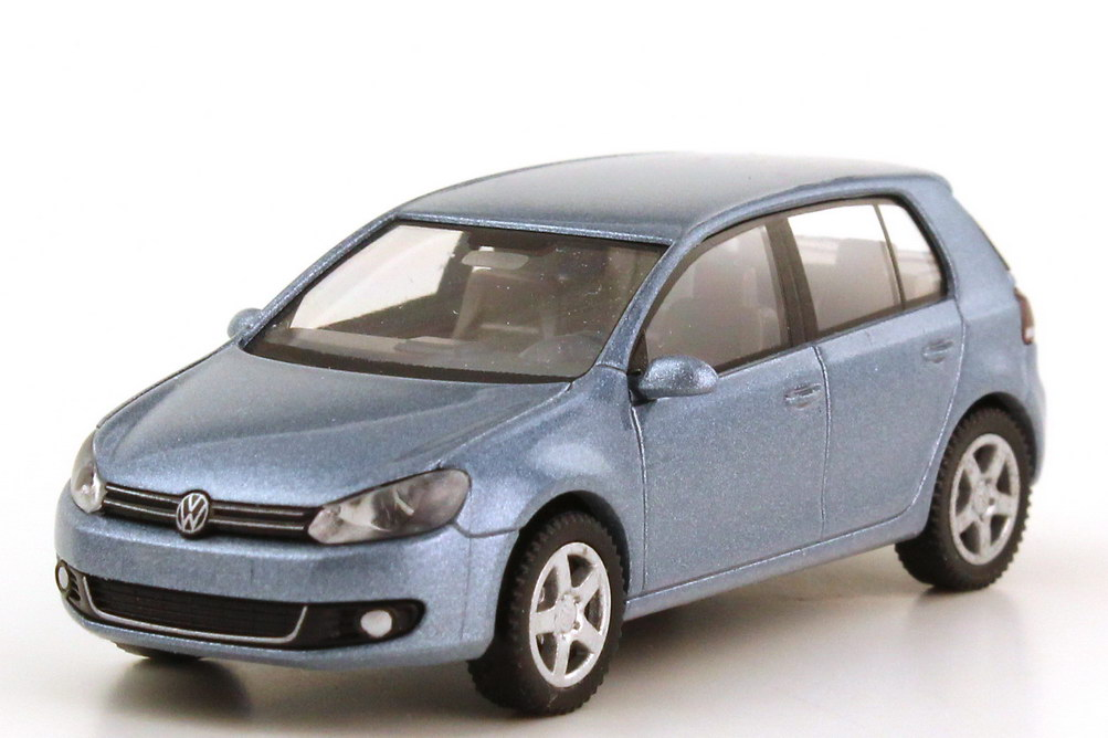 1 87 vw golf vi 5t rig sharkblue met werbemodell. Black Bedroom Furniture Sets. Home Design Ideas