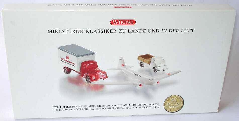 """1:87 100 Jahre Peltzer II - """"Miniaturenklassiker zu Lande und in der Luft"""" (Ford 3500 Ko-Lkw + DC-3 Dakota M 1:200 + DKW Schnelllaster Pritsche)"""