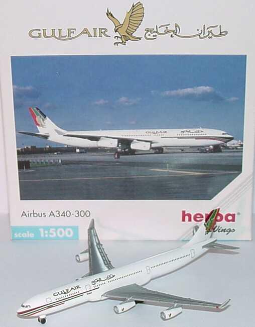 Foto 1:500 Airbus A340-300 Gulf Air herpa Wings 504560