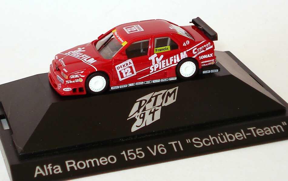 "1:87 Alfa Romeo 155 V6 TI DTM 1994 ""Schübel, TV Spielfilm"" Nr.12, Francia"
