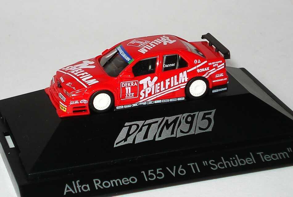 """1:87 Alfa Romeo 155 V6 TI DTM 1995 """"Schübel, TV Spielfilm"""" Nr.11, Danner"""