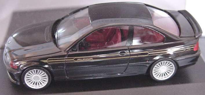 Foto 1:87 Alpina B3 3,3 Coupé Basis BMW 3er E46 schwarz - herpa 101165