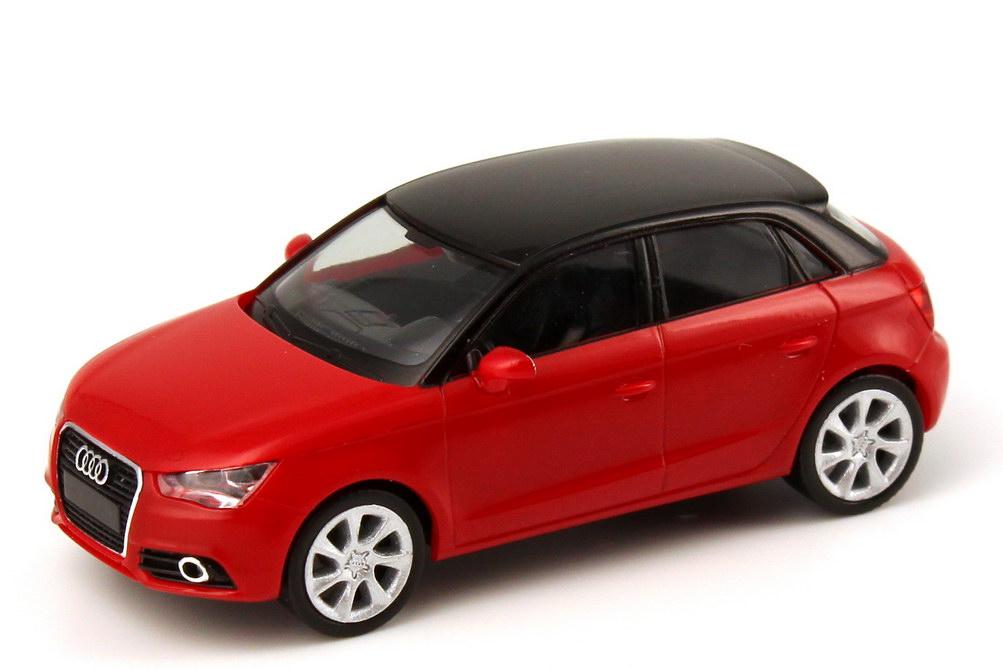 1 87 audi a1 sportback 2012 misano rot red dealer edition oem herpa ebay. Black Bedroom Furniture Sets. Home Design Ideas