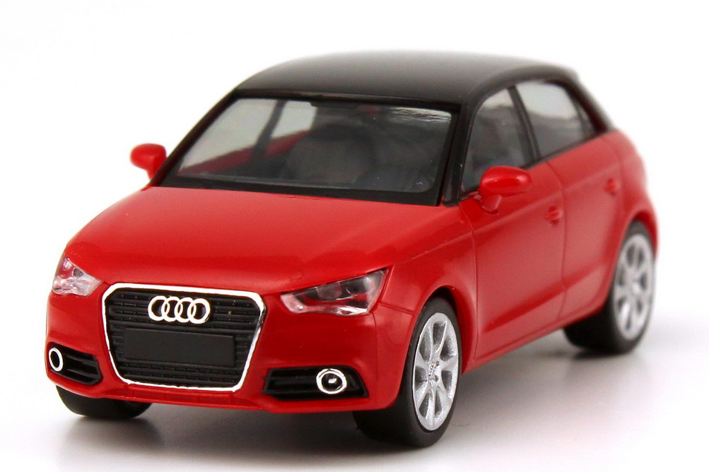 1 87 audi a1 sportback 2012 misanorot rot red dealer edition oem herpa ebay. Black Bedroom Furniture Sets. Home Design Ideas