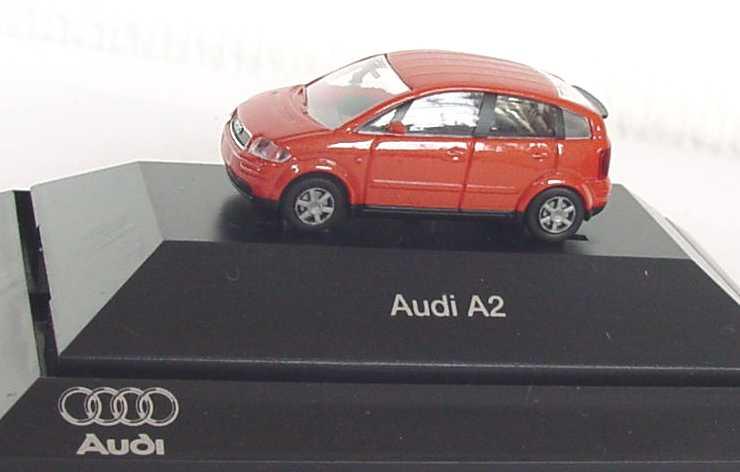 Audi A2 Jaipurrot Met Werbemodell Rietze 5010002012 Bild 5