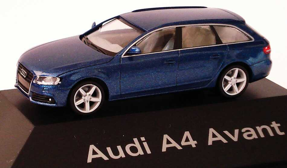 1 87 audi a4 avant b8 bleu aruba bleu bleu dealer edition herpa 5010804222 ebay. Black Bedroom Furniture Sets. Home Design Ideas