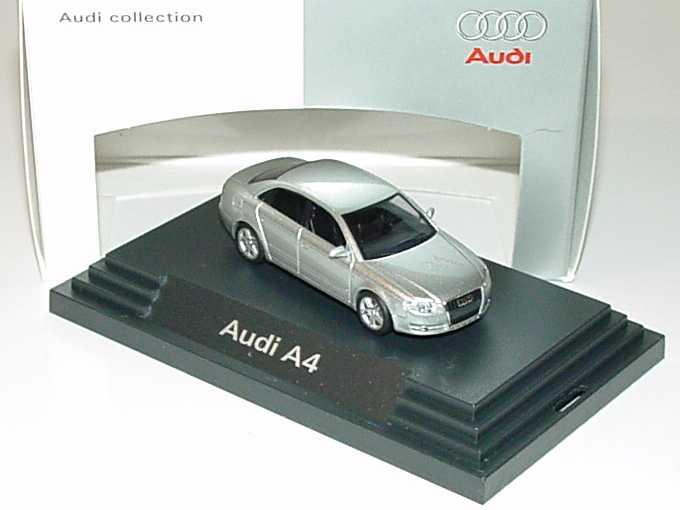 Foto 1:87 Audi A4 3.2 quattro B7 lichsilber-met. - Werbemodell - Busch 5010404112
