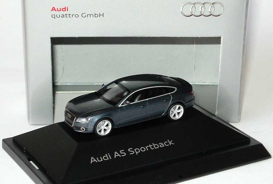 1:87 Audi A5 Sportback meteorgraumet. (Audi)
