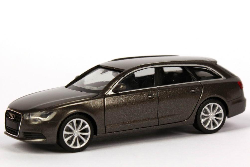 Audi A6 Avant C7 Dakotagrau Met Werbemodell Herpa