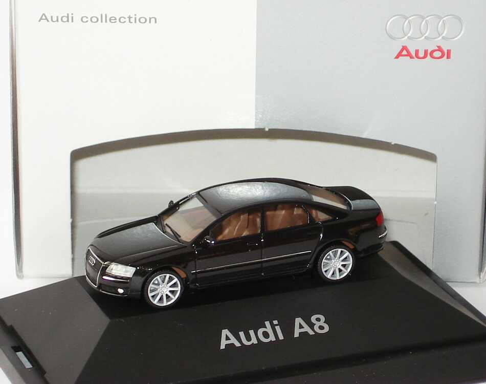 1 87 audi a8 4 2 quattro modell 2005 phantomschwarzmet audi. Black Bedroom Furniture Sets. Home Design Ideas