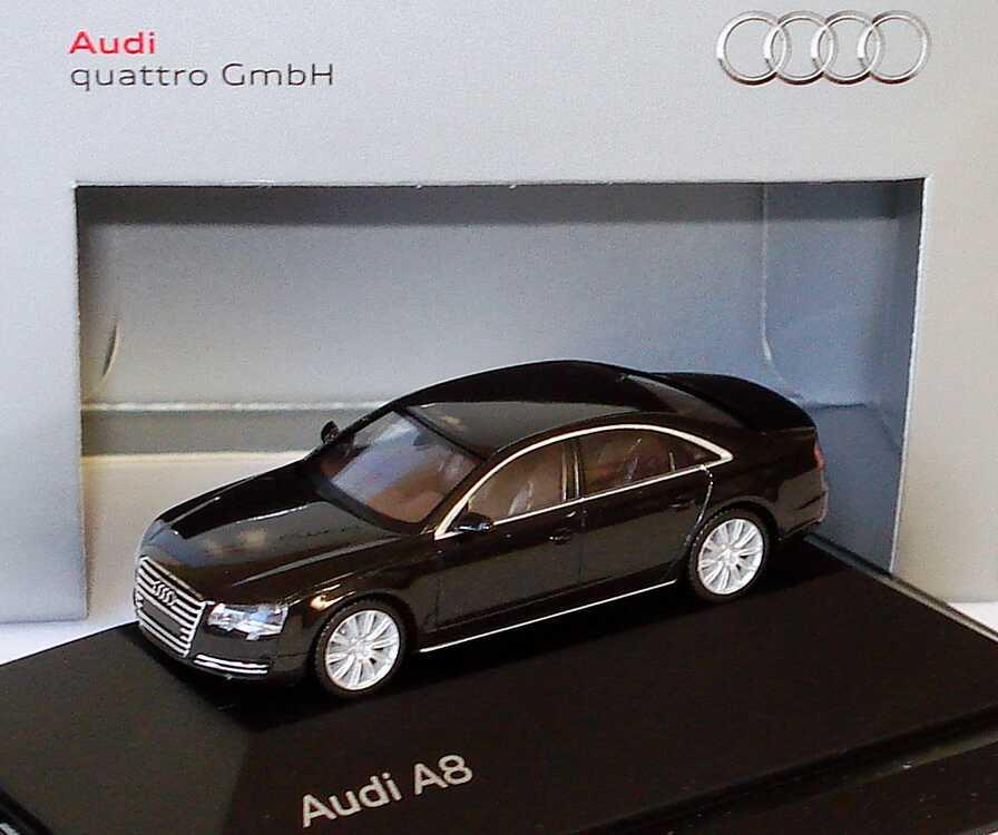 1 87 Audi A8 Typ D4 2010 Havannaschwarz Met Werbemodell