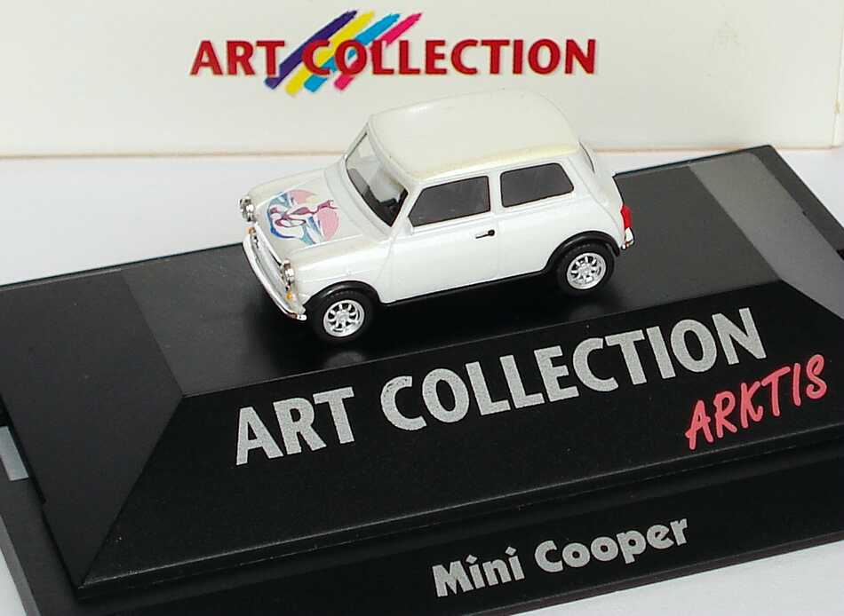 1 87 austin mini cooper arktis art collection herpa 045131. Black Bedroom Furniture Sets. Home Design Ideas