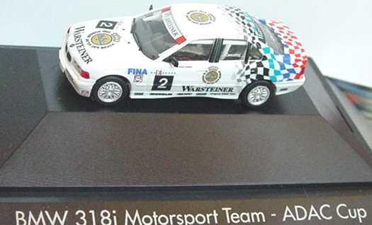 """1:87 BMW 318i (E36) ADAC-Cup """"BMW, Warsteiner"""" Nr.2, Cecotto (oV)"""