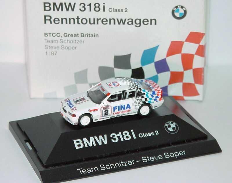 """1:87 BMW 318i (E36) BTCC 1994 """"Schnitzer, Fina"""" Nr. 2, Steve Soper (BMW)"""