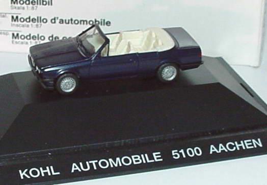 1 87 bmw 325i cabrio e30 dunkelblau met kohl automobile. Black Bedroom Furniture Sets. Home Design Ideas