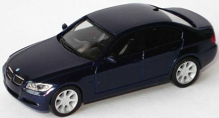 Foto 1:87 BMW 3er E90 monacoblue-met. ohne Klappbox - herpa 80410392155