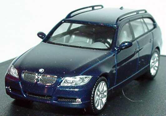 Foto 1:87 BMW 3er touring (E91) monacoblau-met. Werbemodell herpa 80410394352